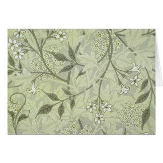 William Morris Jasmine Wallpaper Card