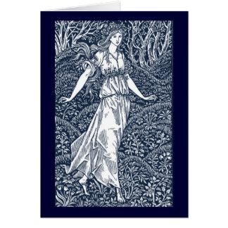 William Morris Lady Card
