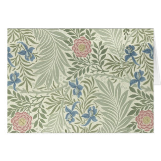 William Morris Larkspur Floral Pattern Card