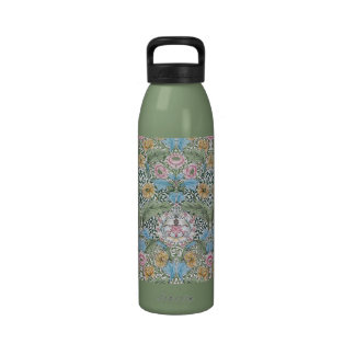 William Morris Myrtle Chintz Pattern Water Bottle