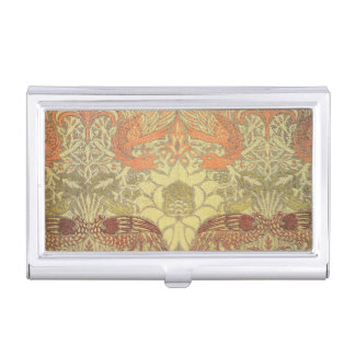 William Morris Peacock and Dragon Pattern Business Card Holders