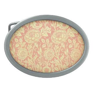 William Morris Pink and Rose Design Belt Buckle