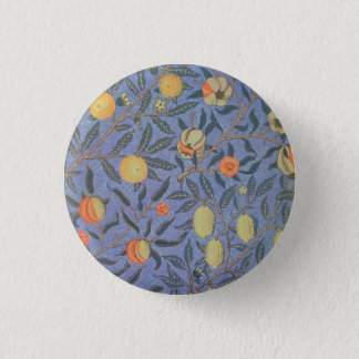 William Morris Pomegranate Floral Vintage Fine Art 3 Cm Round Badge