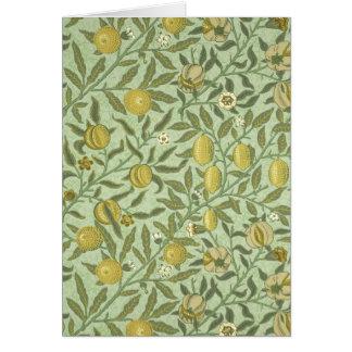 William Morris Pomegranate Fruit Design Card
