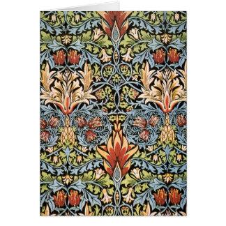 William Morris Snakeshead Design Card