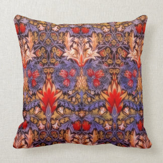 William Morris Snakeshead Vintage Floral Throw Pillow