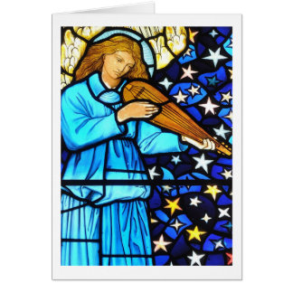 William Morris stained glass angel Card