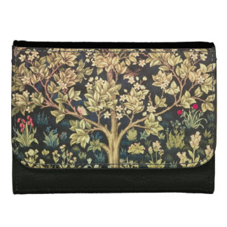 William Morris Tree Of Life Floral Vintage Art Wallets