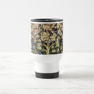 William Morris Tree Of Life Vintage Pre-Raphaelite Travel Mug