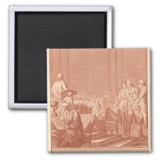 William Pitt the Elder  Opposing the Peace Square Magnet