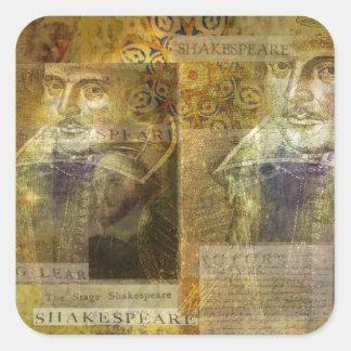 WILLIAM SHAKESPEARE art Square Sticker