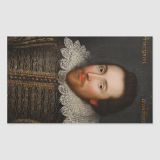William Shakespeare Cobbe Portrait  circa 1610 Rectangular Sticker