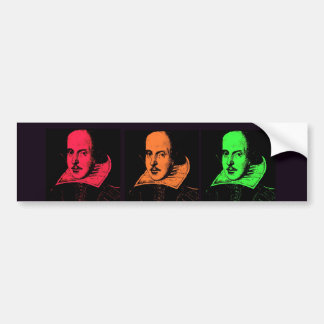 William Shakespeare Collage Bumper Sticker