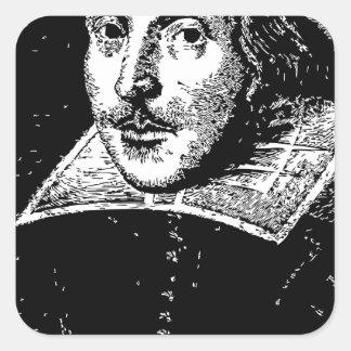 William Shakespeare Face Square Sticker
