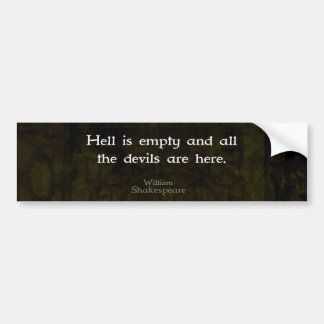 William Shakespeare Humorous Witty Quotation Bumper Sticker
