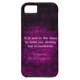 William Shakespeare Inspirational Destiny Quote Tough iPhone 5 Case