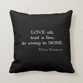 William Shakespeare Inspirational Quote About Love Pillows