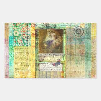 William Shakespeare picture customize with quote Rectangular Sticker