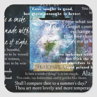William Shakespeare quotes about love Square Sticker