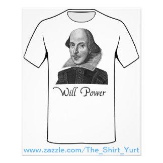 William Shakespeare Will Power Flyer