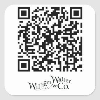 William Walter and Co QR Code Sticker