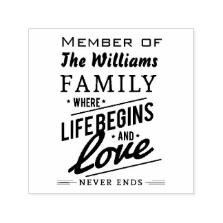 Williams Family Member Reunion Vintage Typography Self-inking Stamp