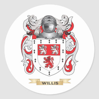 Willis Family Crest (Coat of Arms) Round Sticker