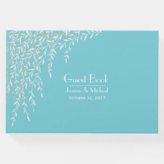 Willow Branches Robins Egg Blue Wedding Guest Book