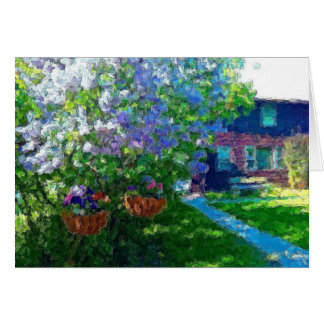willow lake lilac trees card