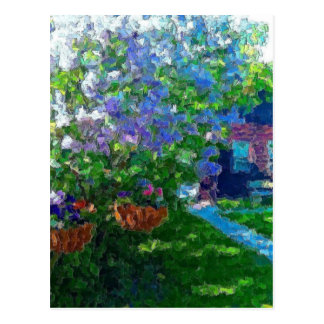willow lake lilac trees postcards