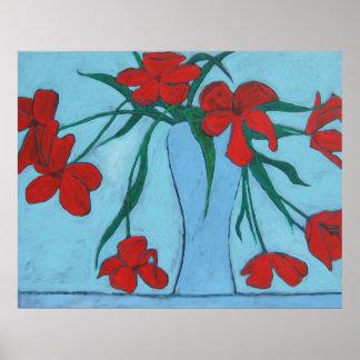 Wilting Tulips Fine Art Poster