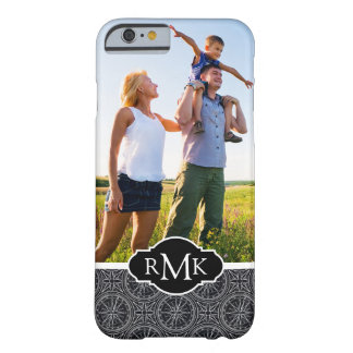 Wind Rose Compass Pattern| Your Photo & Monogram Barely There iPhone 6 Case