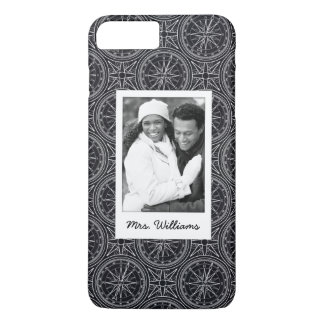 Wind Rose Compass Pattern | Your Photo & Name iPhone 7 Plus Case