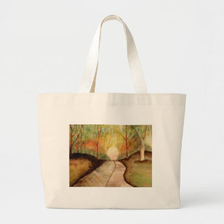 Winding Path Large Tote Bag