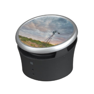 Windmill And Clouds At Sunset Bluetooth Speaker