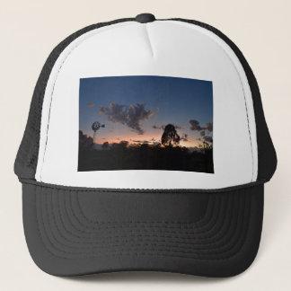 WINDMILL & DAYBREAK RURAL QUEENSLAND AUSTRALIA TRUCKER HAT