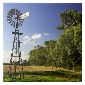 Windmill near Hume Highway, Victoria, Australia Tile