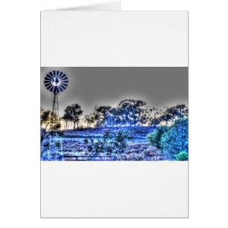 WINDMILL RURAL AUSTRALIA WITH ART EFFECTS CARD