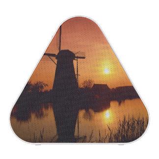Windmills at sunset, Kinderdijk, Netherlands