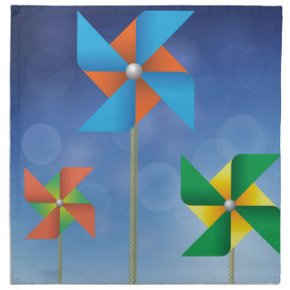 windmills background napkin