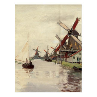 Windmills in Holland by Claude Monet Postcard