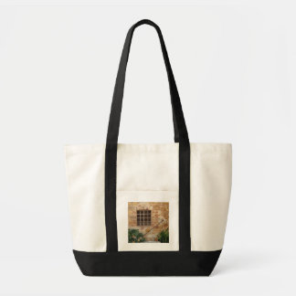 Window and ancient stone wall, Pienza, Italy Tote Bag