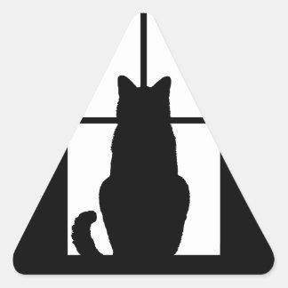 Window Cat Click to Customize Color Decor Triangle Sticker