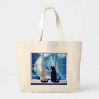 Window Cats Jumbo Tote Bag