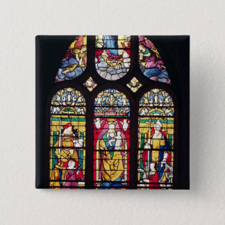 Window depicting the Virgin and Child 15 Cm Square Badge