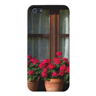 Window flower pots in village iPhone 5/5S cover