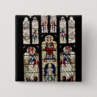 Window in Worcester Cathedral, 15th century 15 Cm Square Badge