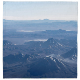 Window Plane View of Andes Mountains Napkin