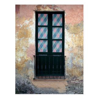 Window Railing Photo Postcard