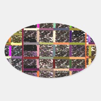 Windows of Opportunities - PEACE is GATEWAY Oval Sticker
